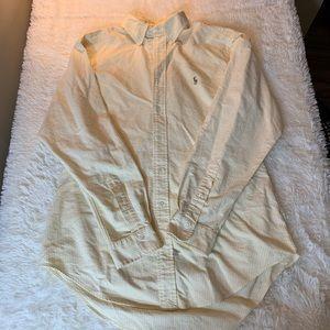 Ralph Lauren 16-34 men's yellow striped shirt